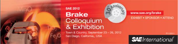 SAE 2012 Brake Colloquium Exhibition